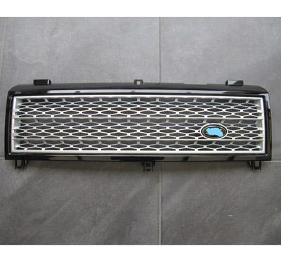 Range-Rover-Voque-supercharged-2002-2006-Gril-zwart-zilver-mat